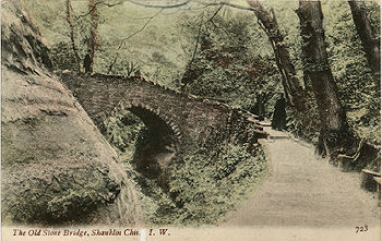 The old stone bridge in Shanklin chine