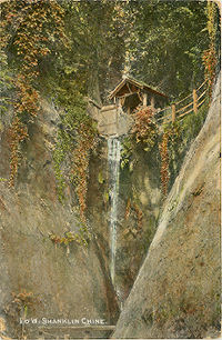 Waterfall in Chanklin Chine