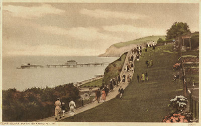 Shanklin cliff path looking south